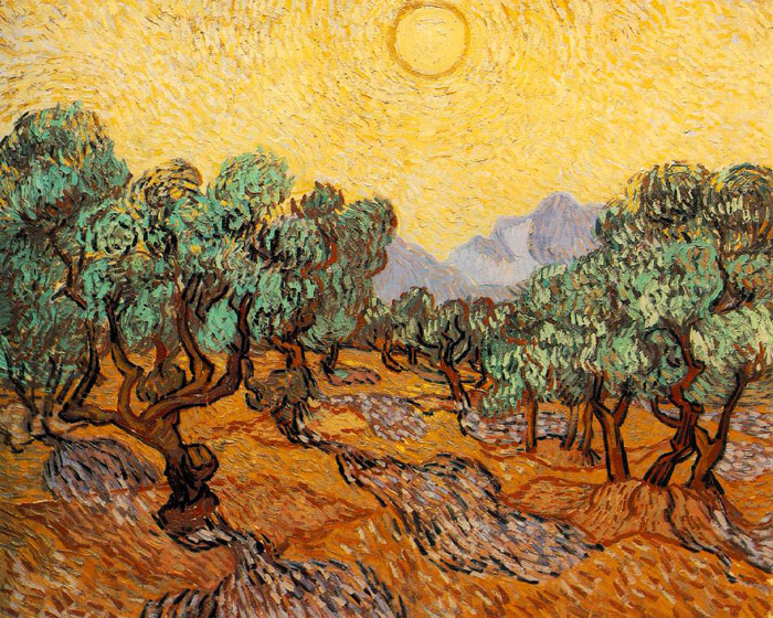 Olive trees with yellow sky, Van Gogh