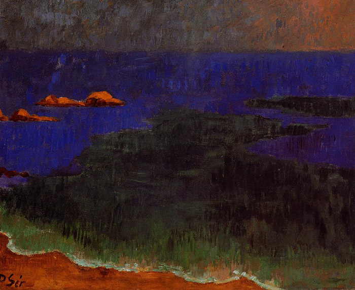 The seat at poldu sunset, Serusier